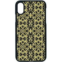 Golden Ornate Intricate Pattern Apple Iphone X Seamless Case (black)