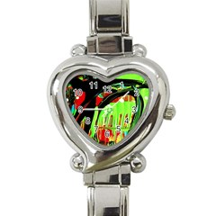 Quiet Place Heart Italian Charm Watch