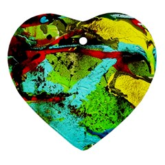 Yellow Dolphins   Blue Lagoon 6 Heart Ornament (two Sides)