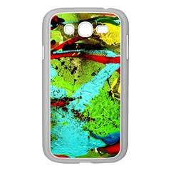 Yellow Dolphins   Blue Lagoon 6 Samsung Galaxy Grand Duos I9082 Case (white)