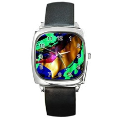 Global Warming 9 Square Metal Watch