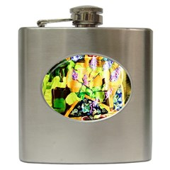 Lilac On A Counter Top 1 Hip Flask (6 Oz)