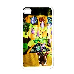 Lilac On A Counter Top 1 Apple Iphone 4 Case (white)