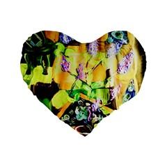 Lilac On A Counter Top 1 Standard 16  Premium Heart Shape Cushions