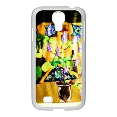 Lilac On A Counter Top 1 Samsung Galaxy S4 I9500/ I9505 Case (white)