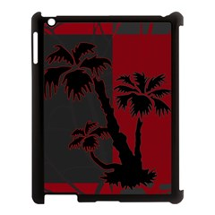 Red And Grey Silhouette Palm Tree Apple Ipad 3/4 Case (black)