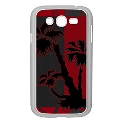 Red And Grey Silhouette Palm Tree Samsung Galaxy Grand Duos I9082 Case (white)