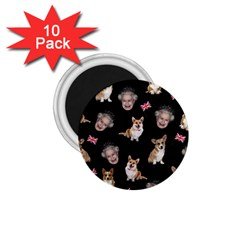 Queen Elizabeth s Corgis Pattern 1 75  Magnets (10 Pack)
