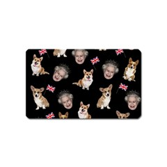 Queen Elizabeth s Corgis Pattern Magnet (name Card)