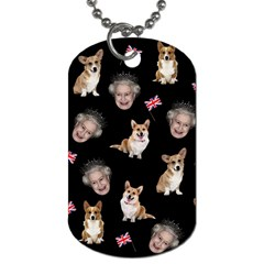 Queen Elizabeth s Corgis Pattern Dog Tag (two Sides)