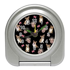 Queen Elizabeth s Corgis Pattern Travel Alarm Clocks