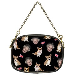 Queen Elizabeth s Corgis Pattern Chain Purses (one Side)