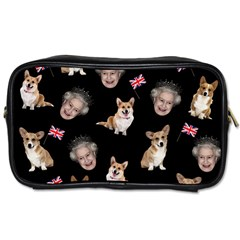 Queen Elizabeth s Corgis Pattern Toiletries Bags