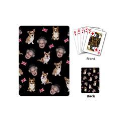 Queen Elizabeth s Corgis Pattern Playing Cards (mini)
