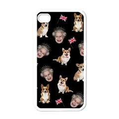 Queen Elizabeth s Corgis Pattern Apple Iphone 4 Case (white)