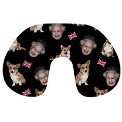 Queen Elizabeth s Corgis Pattern Travel Neck Pillows