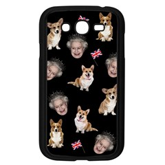 Queen Elizabeth s Corgis Pattern Samsung Galaxy Grand Duos I9082 Case (black) by Valentinaart