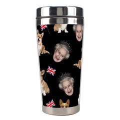Queen Elizabeth s Corgis Pattern Stainless Steel Travel Tumblers