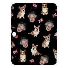 Queen Elizabeth s Corgis Pattern Samsung Galaxy Tab 3 (10 1 ) P5200 Hardshell Case