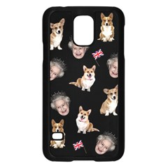 Queen Elizabeth s Corgis Pattern Samsung Galaxy S5 Case (black)