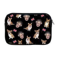 Queen Elizabeth s Corgis Pattern Apple Macbook Pro 17  Zipper Case