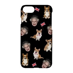 Queen Elizabeth s Corgis Pattern Apple Iphone 8 Hardshell Case