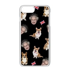 Queen Elizabeth s Corgis Pattern Apple Iphone 8 Plus Seamless Case (white)