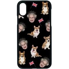 Queen Elizabeth s Corgis Pattern Apple Iphone X Seamless Case (black)