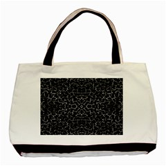 Cracked Dark Texture Pattern Basic Tote Bag (two Sides)