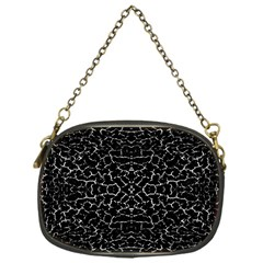 Cracked Dark Texture Pattern Chain Purses (one Side)