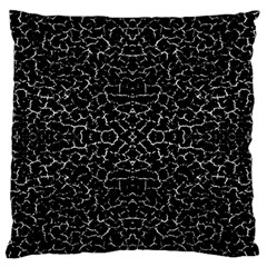 Cracked Dark Texture Pattern Large Flano Cushion Case (one Side)