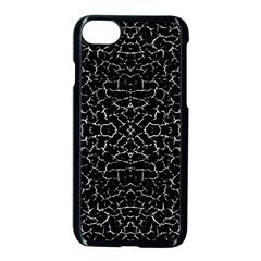 Cracked Dark Texture Pattern Apple Iphone 7 Seamless Case (black)