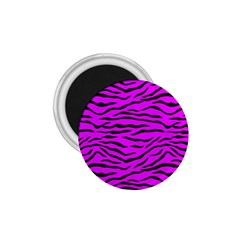 Hot Neon Pink And Black Tiger Stripes 1 75  Magnets by PodArtist