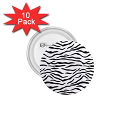 Black And White Tiger Stripes 1 75  Buttons (10 Pack) by PodArtist