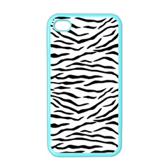 Black And White Tiger Stripes Apple Iphone 4 Case (color)