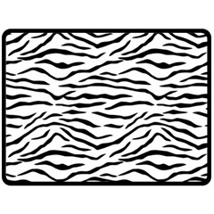 Black And White Tiger Stripes Double Sided Fleece Blanket (large)  by PodArtist