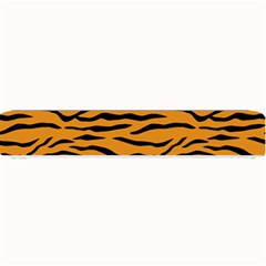 Orange And Black Tiger Stripes Small Bar Mats by PodArtist