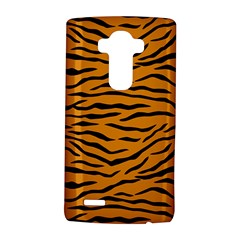 Orange And Black Tiger Stripes Lg G4 Hardshell Case by PodArtist