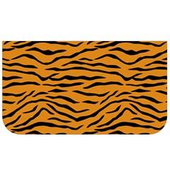 Orange And Black Tiger Stripes Lunch Bag by PodArtist