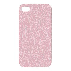 Elios Shirt Faces In White Outlines On Pale Pink Cmbyn Apple Iphone 4/4s Premium Hardshell Case