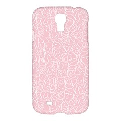 Elios Shirt Faces In White Outlines On Pale Pink Cmbyn Samsung Galaxy S4 I9500/i9505 Hardshell Case