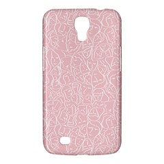 Elios Shirt Faces In White Outlines On Pale Pink Cmbyn Samsung Galaxy Mega 6 3  I9200 Hardshell Case by PodArtist