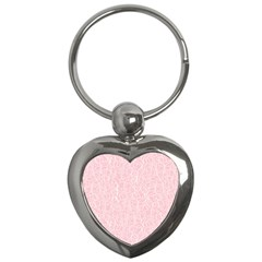 Elios Shirt Faces In White Outlines On Pale Pink Cmbyn Key Chains (heart)  by PodArtist