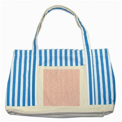 Elios Shirt Faces In White Outlines On Pale Pink Cmbyn Striped Blue Tote Bag by PodArtist