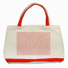 Elios Shirt Faces In White Outlines On Pale Pink Cmbyn Classic Tote Bag (red) by PodArtist