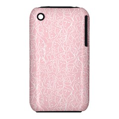 Elios Shirt Faces In White Outlines On Pale Pink Cmbyn Iphone 3s/3gs by PodArtist