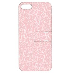 Elios Shirt Faces In White Outlines On Pale Pink Cmbyn Apple Iphone 5 Hardshell Case With Stand by PodArtist