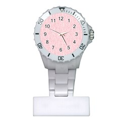 Elios Shirt Faces In White Outlines On Pale Pink Cmbyn Plastic Nurses Watch by PodArtist