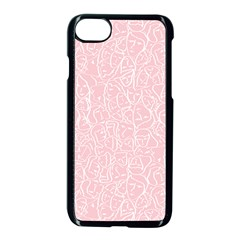 Elios Shirt Faces In White Outlines On Pale Pink Cmbyn Apple Iphone 7 Seamless Case (black)