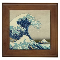 The Classic Japanese Great Wave Off Kanagawa By Hokusai Framed Tiles